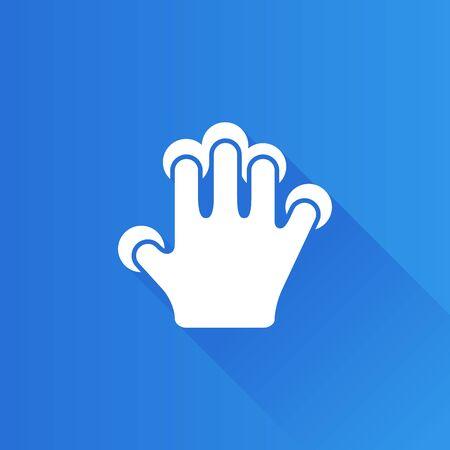 Finger Geste Symbol in der Metro-Benutzeroberfläche, Farbe, Stil. Gadget Touchpad Smartphone Laptop