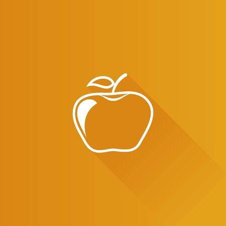 Apple icon in Metro user interface color style. Food fruit healthy lifestyle