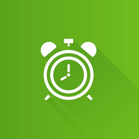 design office: Clock icon in Metro user interface color style. Alarm wall time