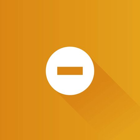 Stop sign icon in Metro user interface color style. Road warning restriction