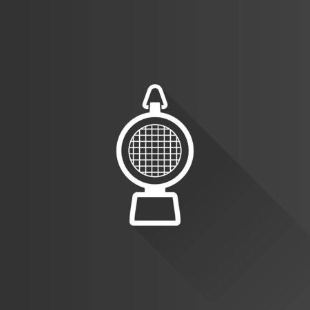 Hazard light icon in Metro user interface color style. Transportation road construction Illustration