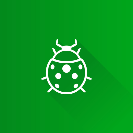 shadow: Bug icon in Metro user interface color style. Insects, computer virus