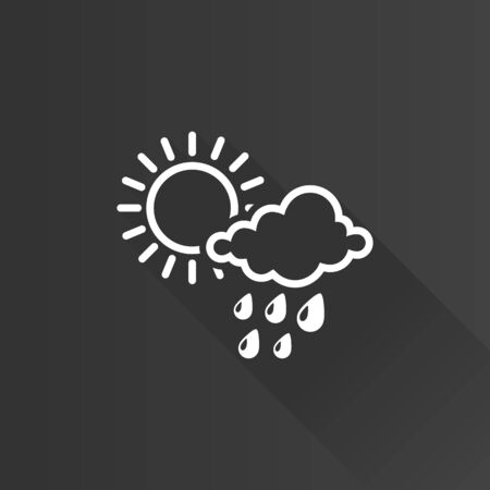 clouds: Rainy icon in Metro user interface color style. Season forecast monsoon wet