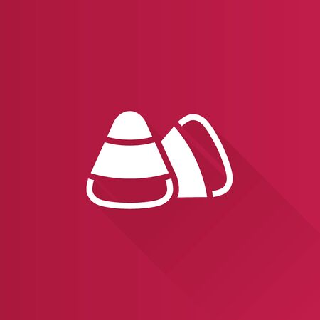 Candy icon in Metro user interface color style. Food Halloween sugar sweet Illustration
