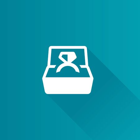 wedding couple: Wedding ring icon in Metro user interface color style.