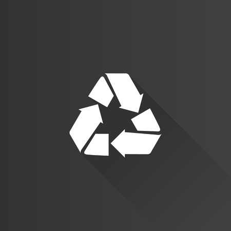 green environment: Recycle symbol icon in Metro user interface color style. Environment recyclable go green Illustration