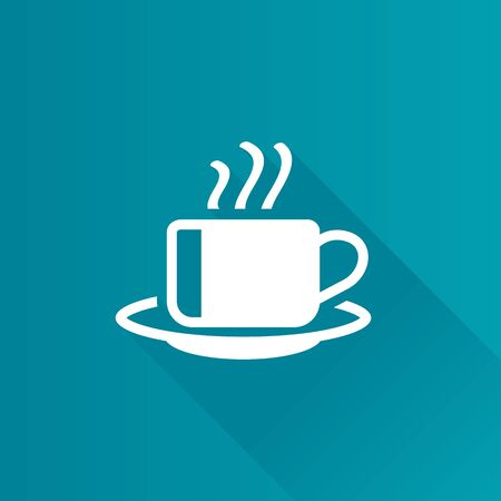 Coffee cup icon in Metro user interface color style. Food beverage hot espresso Illustration