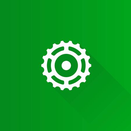 Sprocket icon in Metro user interface color style.