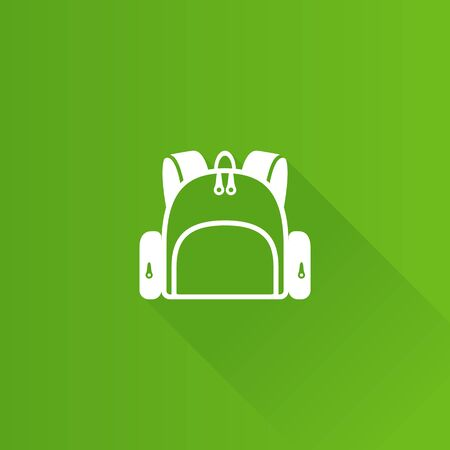 School bag icon in Metro user interface color style. Backpack luggage rucksack Illustration