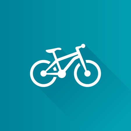 telephone: Mountain bike icon in Metro user interface color style. Sport explore bicycle Illustration