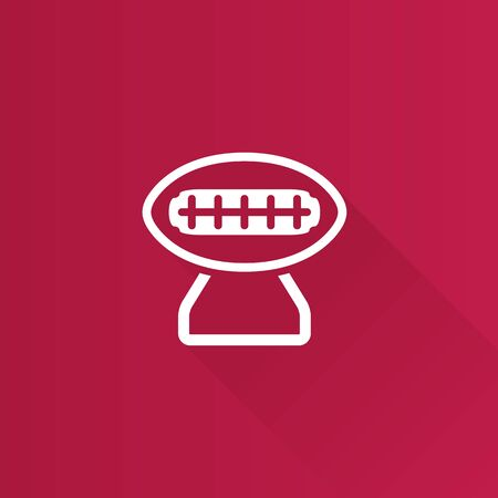 telephone: American football trophy icon in Metro user interface color style. Winner champion