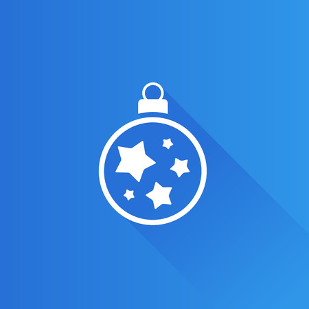 telephone: Christmas ball icon in Metro user interface color style. Season greeting December
