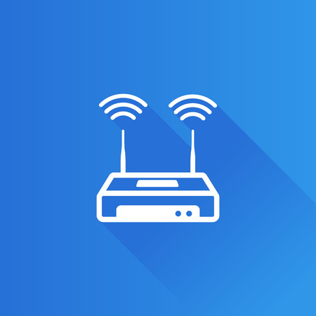 Router icon in Metro user interface color style. Internet connection WiFi