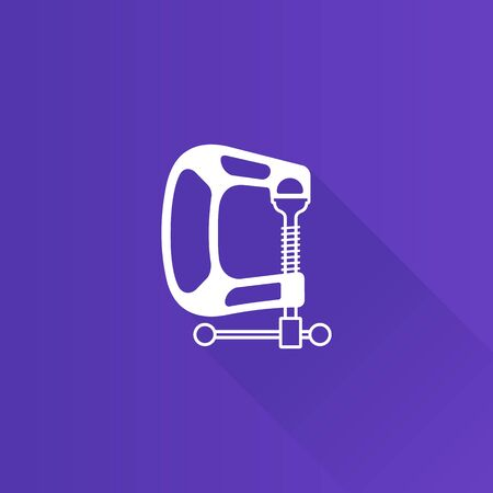 mounting: Clamp tool icon in Metro user interface color style. Industrial mechanic automotive Illustration