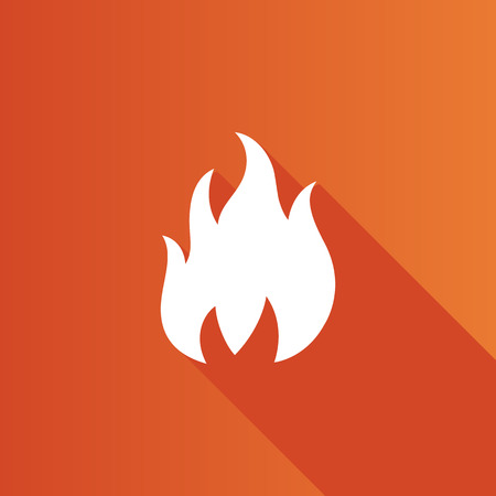 Fire icon in Metro user interface color style. Flame hot item business Illustration