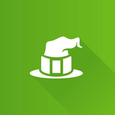 Witch hat icon in Metro user interface color style. Sorcerer Halloween magic Illustration