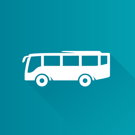 website buttons: Car icon in Metro user interface color style. Bus transportation