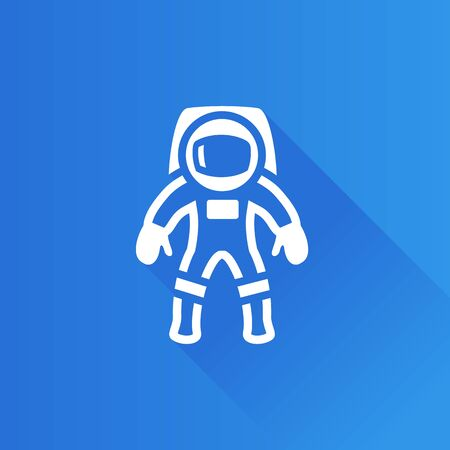Astronaut icon in Metro user interface color style. Space protective gear