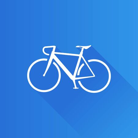 telephone: Road bicycle icon in Metro user interface color style. Sport race cycling