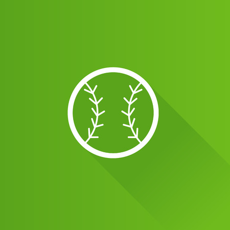 Baseball icon in Metro user interface color style. Sport champion competition