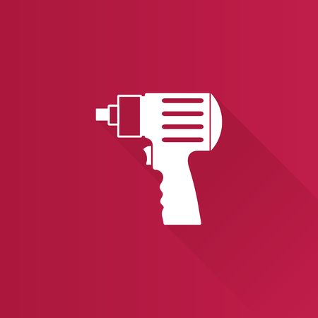 shadow: Electric screwdriver icon in Metro user interface color style. Machine household work tool Illustration