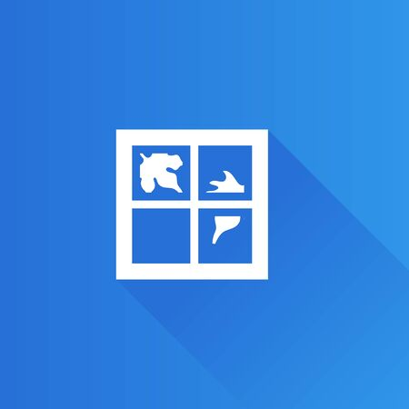 air: Falling leaves icon in Metro user interface color style. Autumn fall windy weather