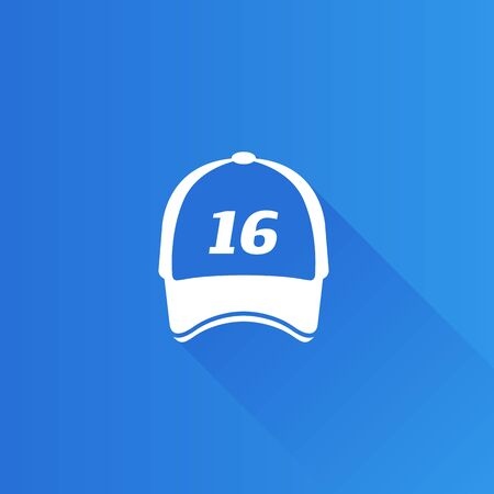 shadow: Sport hat icon in Metro user interface color style.
