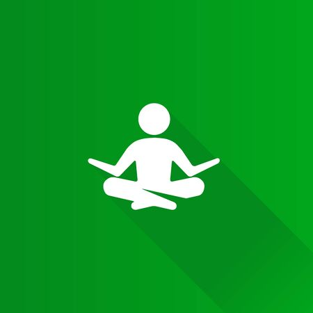 beautiful men: Meditation icon in Metro user interface color style. Concentration wellness health