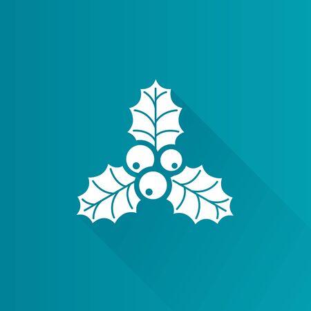 Christmas garland icon in Metro user interface color style. Celebration season December Illustration