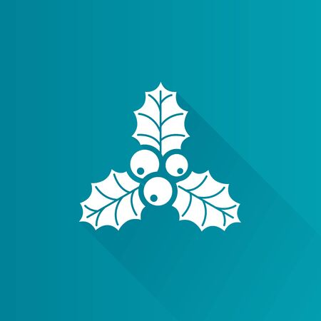Christmas garland icon in Metro user interface color style. Celebration season December Illustration