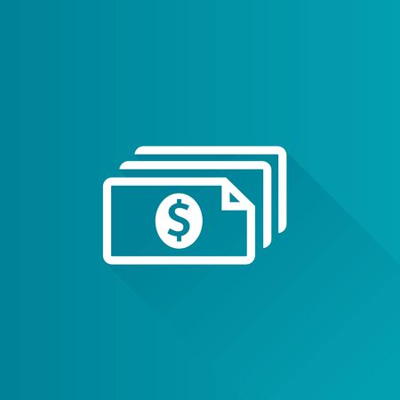 telephone: Money icon in Metro user interface color style. Finance wealth banking Illustration