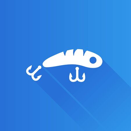 Fishing lure icon in Metro user interface color style. Sport water attracts