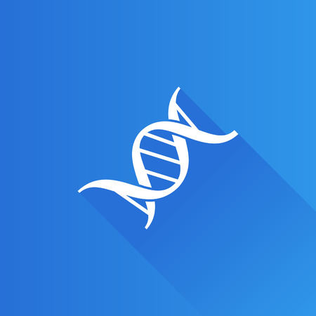 DNA strands icon in Metro user interface color style. Science biology chromosome