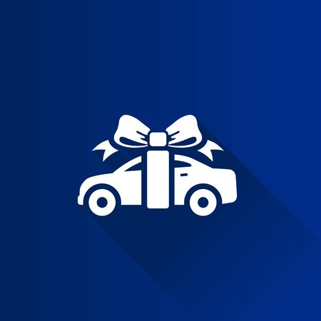 Car prize icon in Metro user interface color style. Prize gift present