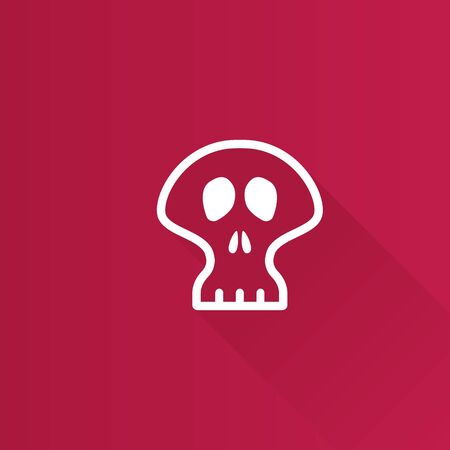 human face: Skeleton icon in Metro user interface color style. Skull Halloween decoration