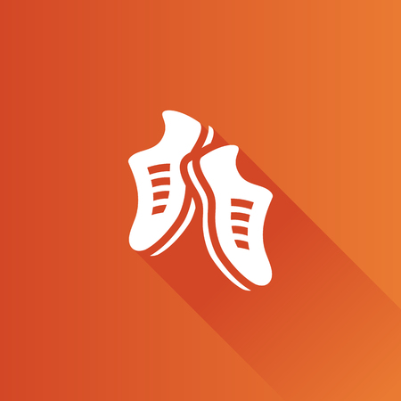 mobile: Shoes icon in Metro user interface color style. Sneakers foot sport