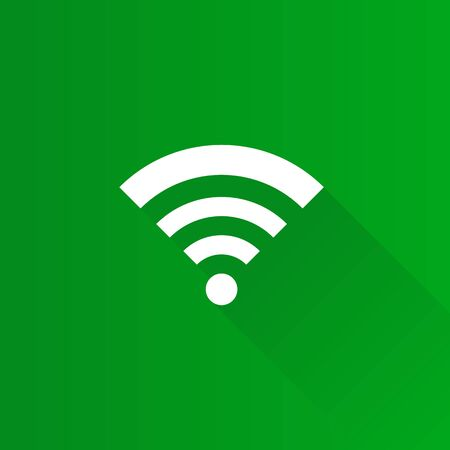 WiFi symbol icon in Metro user interface color style. Electronic computer wireless