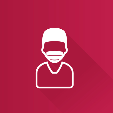Surgeon icon in Metro user interface color style. Medical surgery doctor operation