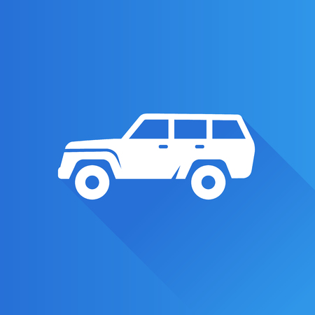 shadow: Car icon in Metro user interface color style. Sport vehicle offroad Illustration