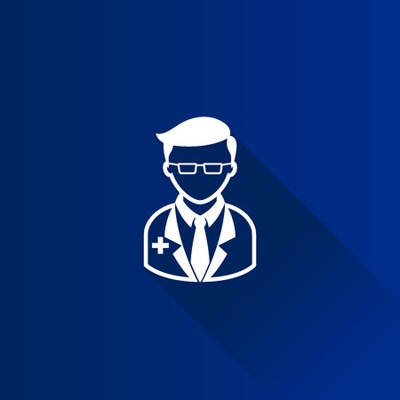 Doctor icon in Metro user interface color style. Medical practitioner healthcare Illustration