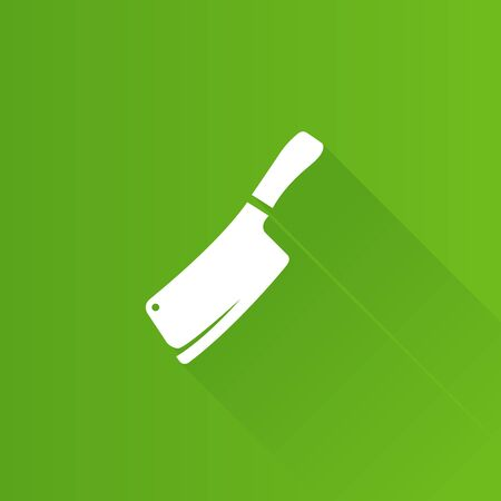 stainless: Butcher knife icon in Metro user interface color style. Kitchen restaurant chef tool Illustration