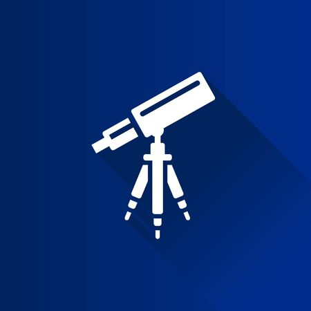stars: Telescope icon in Metro user interface color style. Space stars constellation Illustration