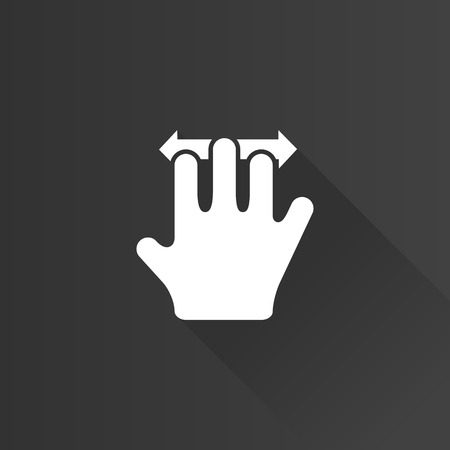 screen: Finger gesture icon in Metro user interface color style. Gadget touch pad smart phone laptop