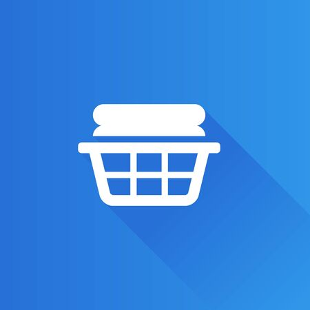 shadow: Clothes basket icon in Metro user interface color style. Laundry household