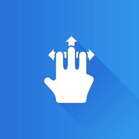 laptop: Finger gesture icon in Metro user interface color style. Gadget touch pad smart phone laptop