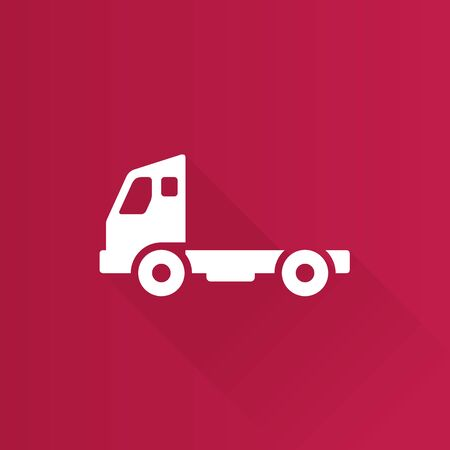 delivery truck: Empty container lift truck icon in Metro user interface color style. Industry logistic distribution