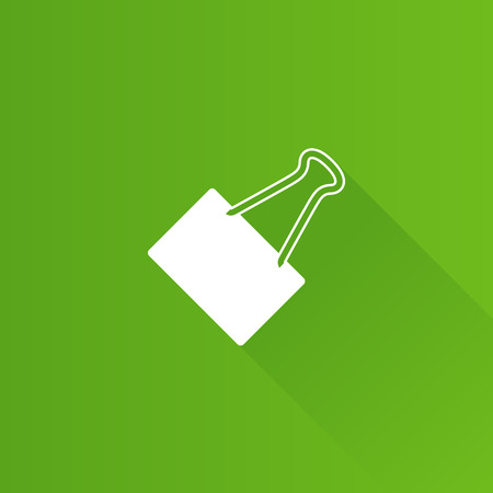 Binder clip icon in Metro user interface color style.