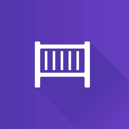 bedroom bed: Baby bed icon in Metro user interface color style. Furniture bedroom sleep