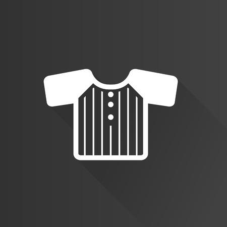 textiles: Shirt icon in Metro user interface color style. Clothes uniform textile