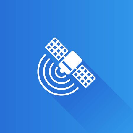 sky: Satellite receiver icon in Metro user interface color style. Data information technology Illustration
